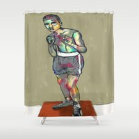 ali Shower Curtains featuring ali by blibre