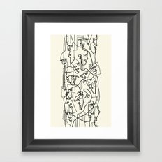 Curves And Lines Framed Art Print