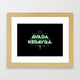 Avada Kedavra Framed Art Print