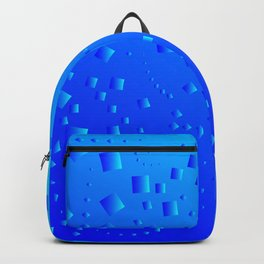 Pattern from blue diamonds on a blue background. Backpack