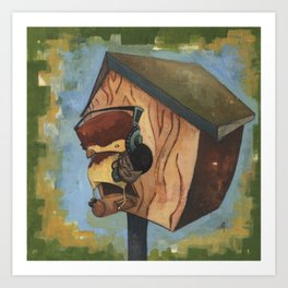 Rocking House Finch Art Print