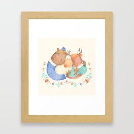 Family Hug Framed Art Print