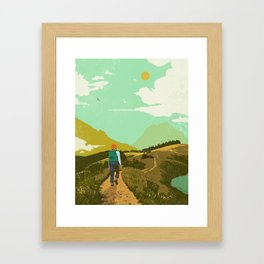 WARM TRAILS Framed Art Print