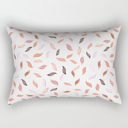 Falling Leaves Seamless Pattern Rectangular Pillow