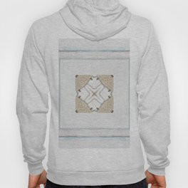 Country Style White Wood Frame Burlap Pattern Hoody