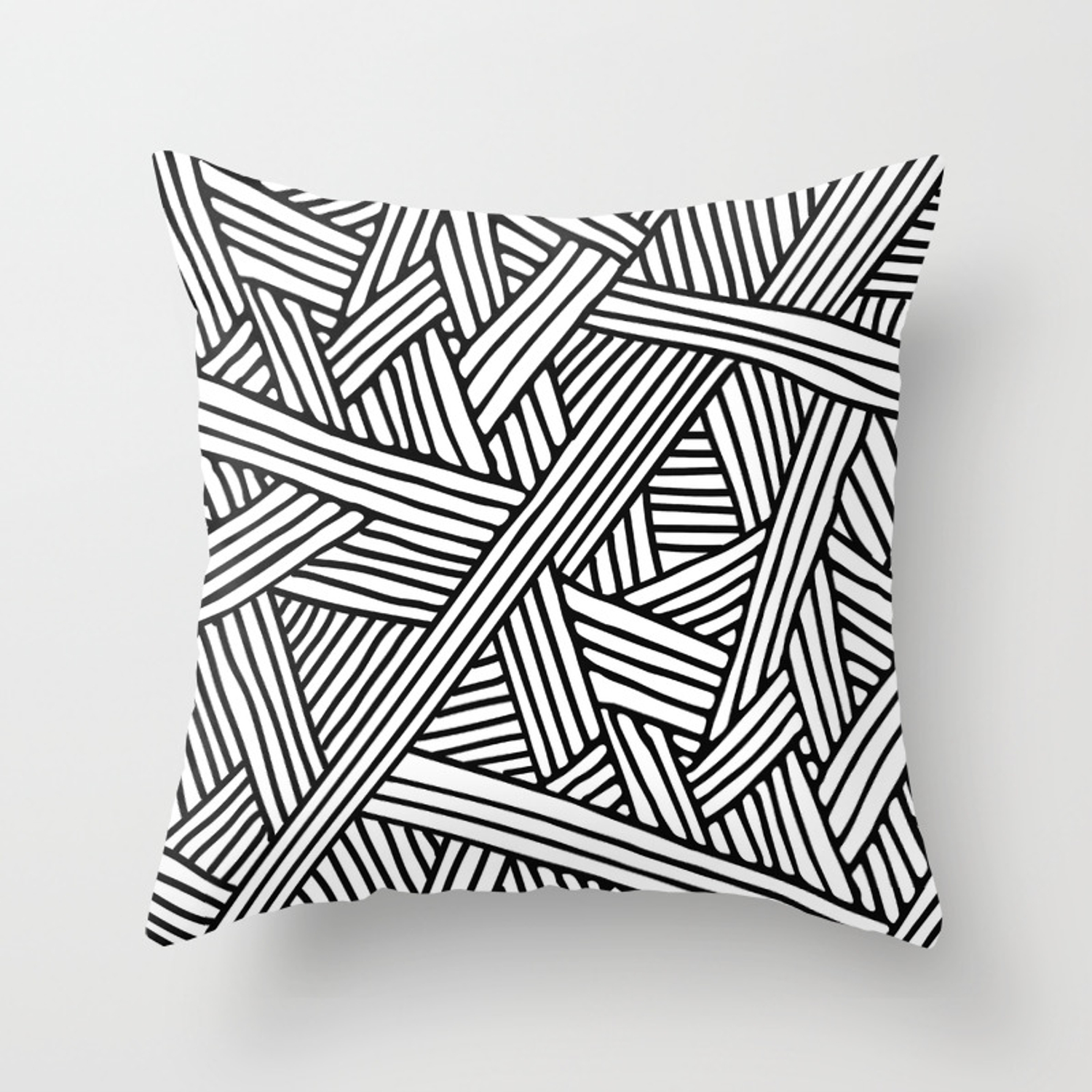 Abstract White Black Lines And Triangles Pattern Mix And Match With Simplicity Of Life Throw Pillow By Simplicity Of Live Society6
