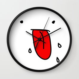 Blegh Blah Wall Clock