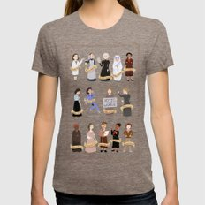 Women in History X-LARGE Tri-Coffee Womens Fitted Tee