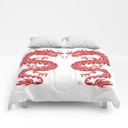 Chinese Dragon – Crimson Palette Comforters