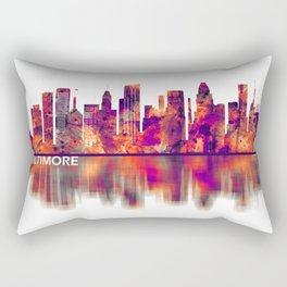Baltimore Maryland Skyline Rectangular Pillow