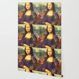 Mona Lisa Squirrel Photo Bomb Pop Art Wallpaper