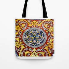 Topkapi Palace, detail of a ceiling Tote Bag