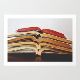 Book Love I Art Print