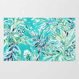 KAILUA CHILL Tropical Hawaiian Floral Rug