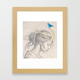 Glimmering gold crown Framed Art Print