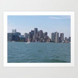 Boston Harbor in the Summer Art Print