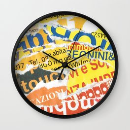Yellow to Red Wall Clock