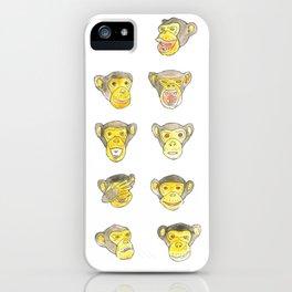 10 000 monkeys iPhone Case