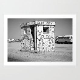 Slab City (black & white) Art Print