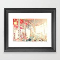 On The Carousel Framed Art Print