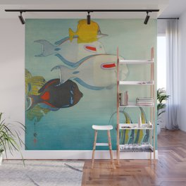 Fishes of Honolulu Vintage Japanese Woodblock Print Tropical Colorful Sea Life Hiroshi Yoshida Wall Mural