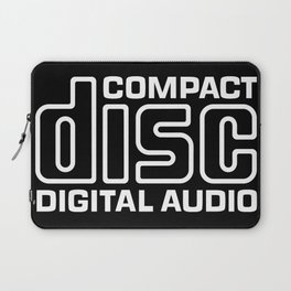 Compact Disk Digital Audio Logo - White Laptop Sleeve