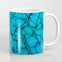 aqua Mugs featuring Aqua by DuckyB