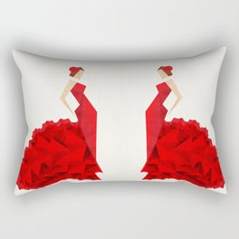 The Dancer (Flamenco) Rectangular Pillow
