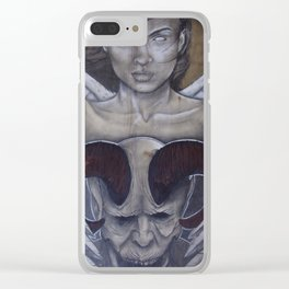 Battle of Good and Evil Clear iPhone Case