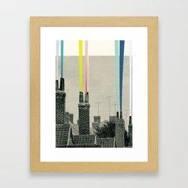 Smoke City Framed Art Print
