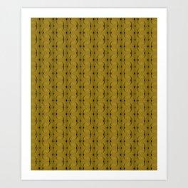Ocre Lace Pattern Art Print