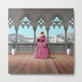 Henrietta Hamster at the Mountain Retreat Metal Print