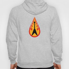Guitar With Fire Graphics Hoody