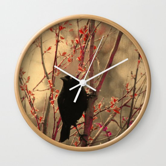 Grackle  Wall Clock