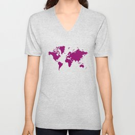 World with no Borders - sangria Unisex V-Neck
