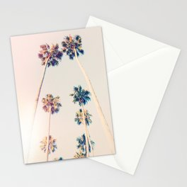 Vintage Pastel Palm trees Stationery Cards