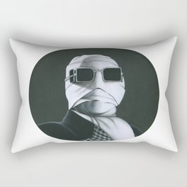This man is Invisible on vinyl record print Rectangular Pillow