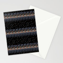 Retinal Circuitry - Color on Black Stationery Cards