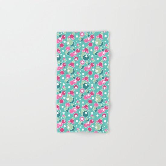 Retro. Multi-colored polka dots . Hand & Bath Towel