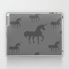 Unicorns Gray Shades Laptop & iPad Skin