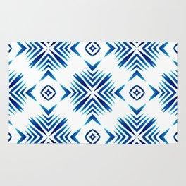 Shibori Blue Watercolour No.15 Rug