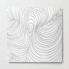 contours Metal Print