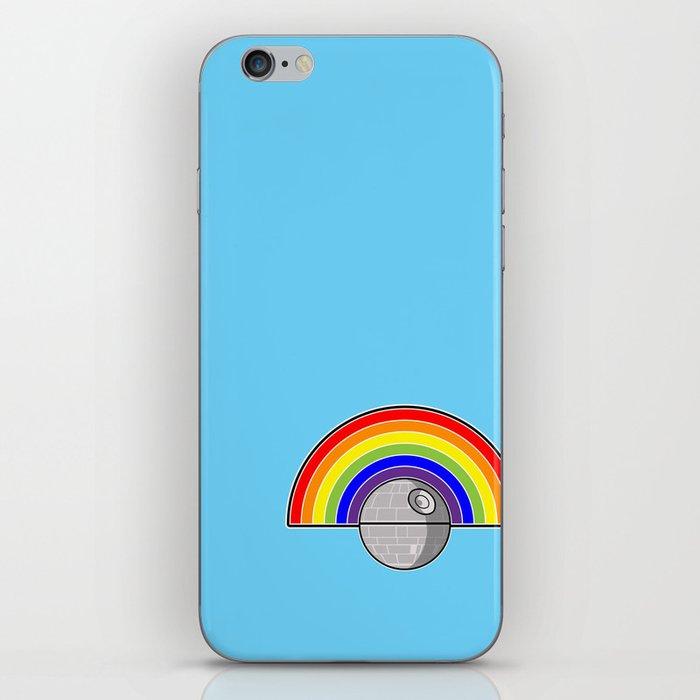 Death Star Rainbow iPhone Skin