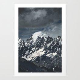 Mountains of Georgia || Peaks || Caucasus || Snowy Tops || Madara Travels Art Print