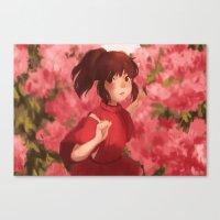 chihiro Canvas Prints featuring Chihiro by punziella
