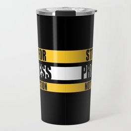 Lab No. 4 - Strive For Progress Not Perfection Inspirational Quotes Poster Travel Mug