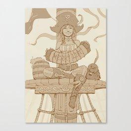 Merry Minstrel Drawing Canvas Print