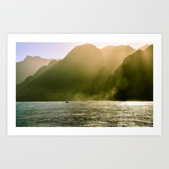 Kawaii Coastline Art Print