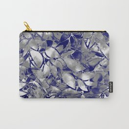 Grunge Art Silver Floral Abstract G169 Carry-All Pouch