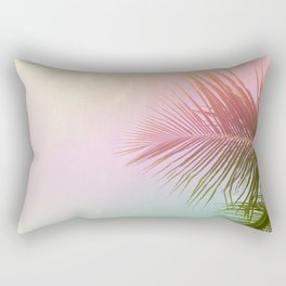 Pink Palm Leaf Poster Rectangular Pillow